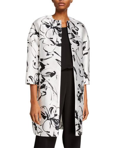 Plus Size Floating Floral Paris Jacket