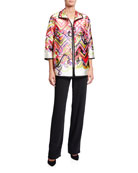 Caroline Rose Flying Colors Printed Jacket and Matching