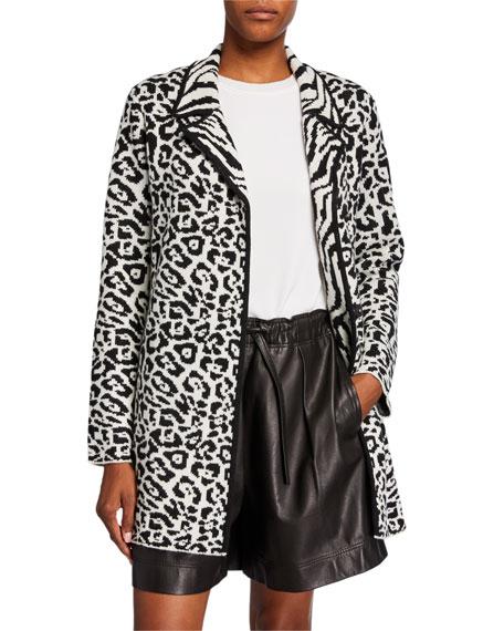 Victor Glemaud Animal-Print Wool Jacket