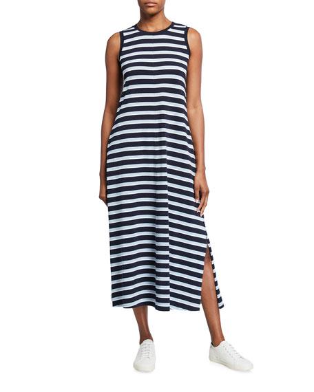 Max Mara Leisure Striped Long Sleeveless Jersey Dress