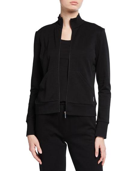 Max Mara Leisure Cotton/Nylon Zip-Front Jersey Jacket