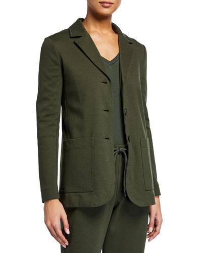 Cotton Jersey Blazer Jacket