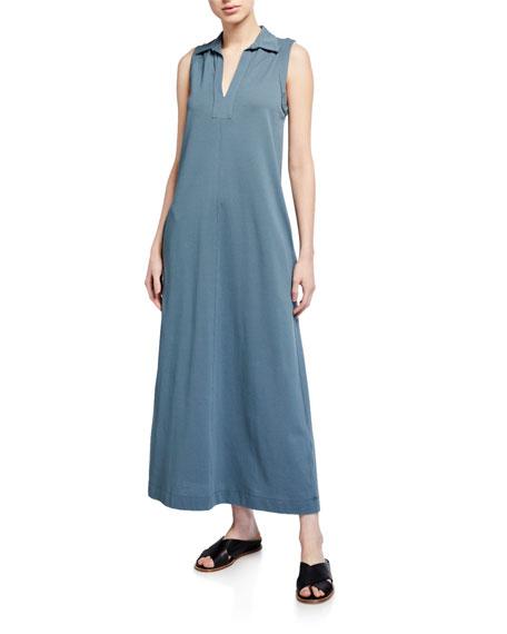 Max Mara Leisure Sleeveless Collared Long Jersey Dress