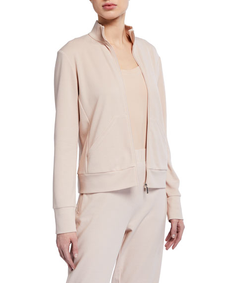 Max Mara Leisure Cotton/Nylon Zip-Front Jersey Jacket