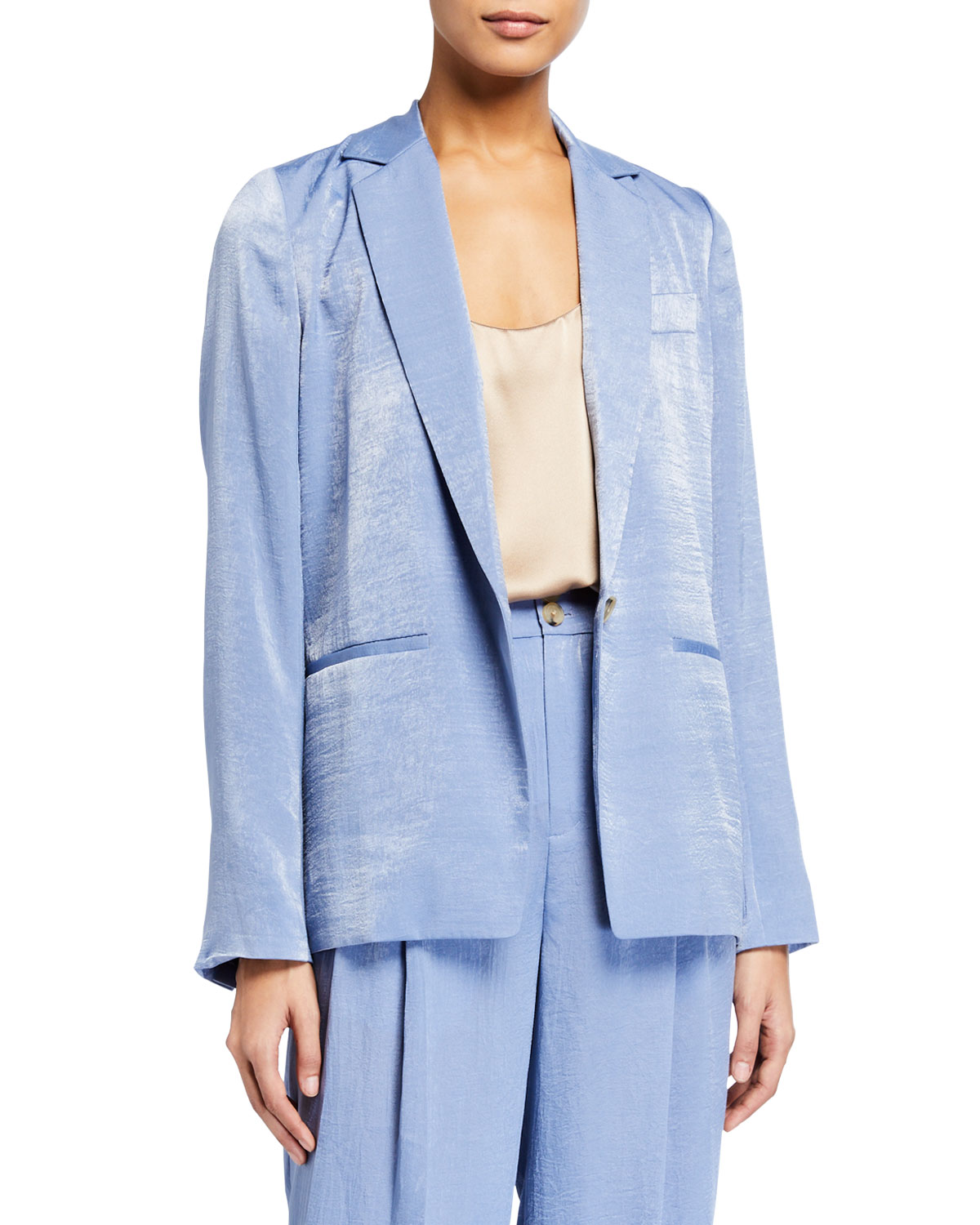 Vince Jackets DRAPEY ONE-BUTTON BLAZER