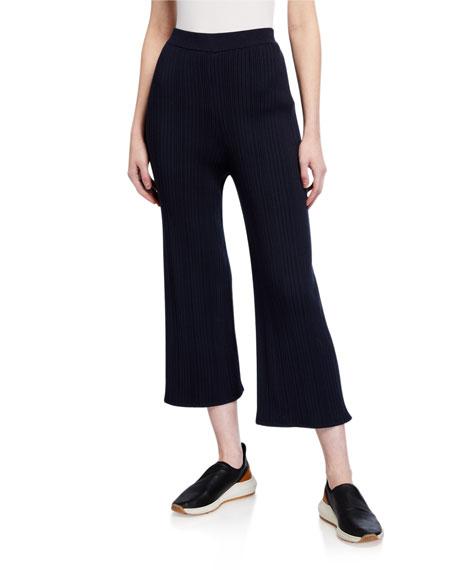 Max Mara Leisure Ribbed Knit Crop Pants