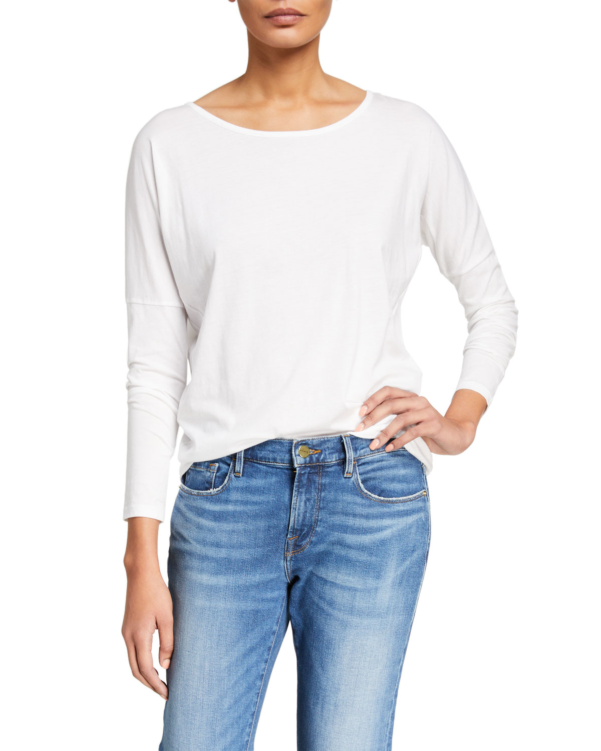 Frame Tops LE MID RISE GARCON LONG-SLEEVE TOP