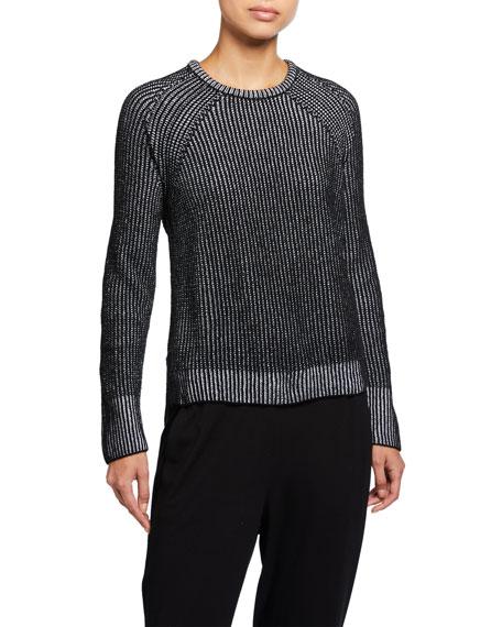 Eileen Fisher Petite Crewneck Organic Cotton Chenille Sweater
