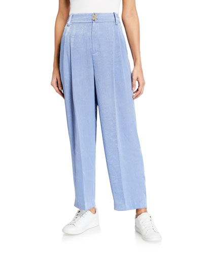 Tapered Hammered Satin Culottes
