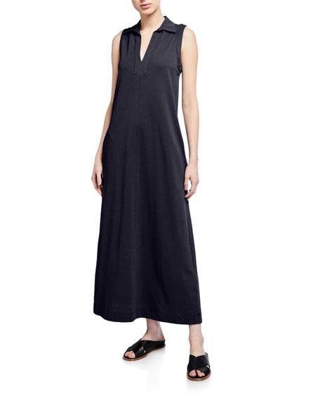 Max Mara Leisure Long Sleeveless Cotton Jersey Dress