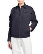 Max Mara Leisure Cotton-Blend Jean Jacket