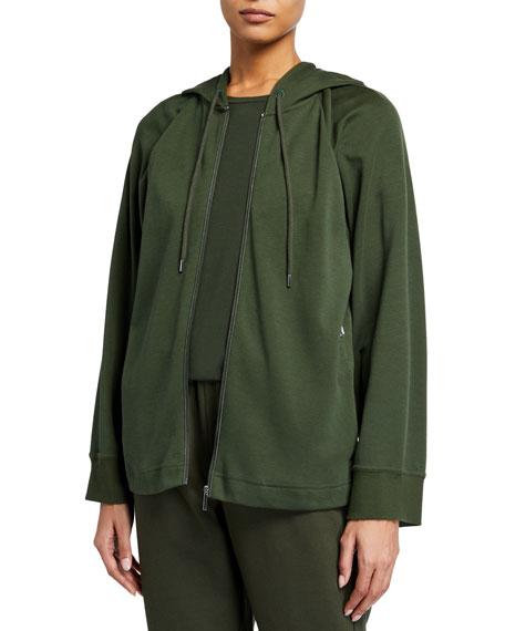 Max Mara Leisure Hooded Zip-Front Jersey Jacket