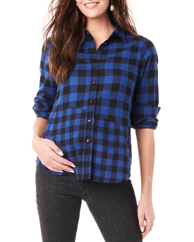 Maternity Blake Long-Sleeve Flannel Top