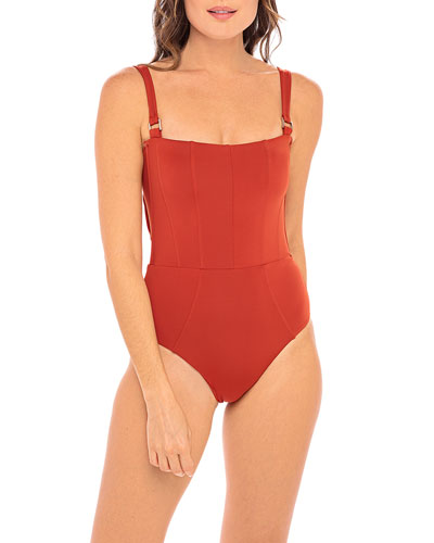 Hunter One-Piece Swimsuit - Picante