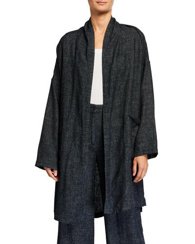 Tweedy Long Kimono Jacket