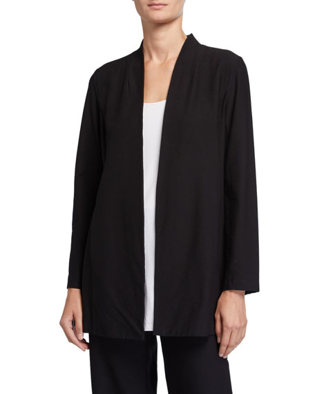 Eileen Fisher Washable Stretch Crepe Long Jacket