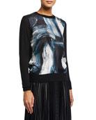 Diane von Furstenberg Bronson Printed Wool Sweater