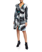 Diane von Furstenberg Calico Printed Button-Down Dress