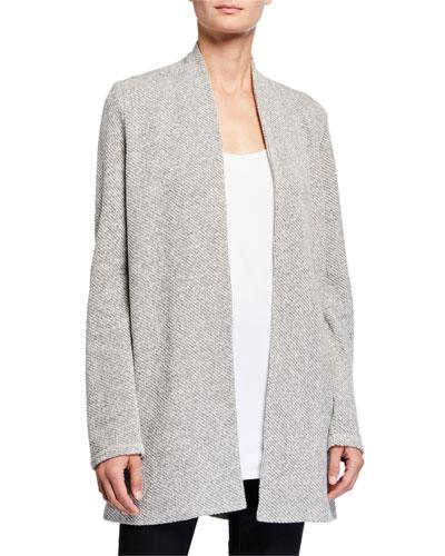Plus Size Twisted Terry Long Kimono Cardigan