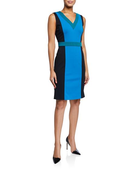 Diane von Furstenberg Arbor Colorblock Sleeveless Dress