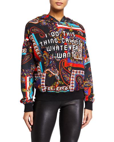 Vernie Printed Pullover Hoodie