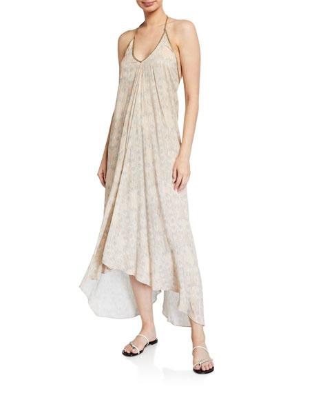 Hansine Rhodes Printed Halter Coverup Dress