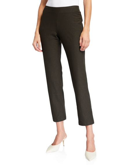Eileen Fisher Slim Stretch Crepe Ankle Pants