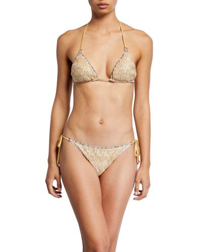 Gold Two-Piece Triangle Bikini Set