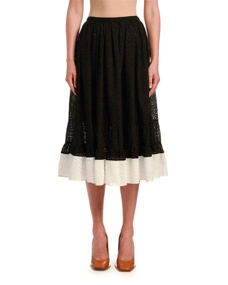 No. 21 Colorblock Circle Skirt