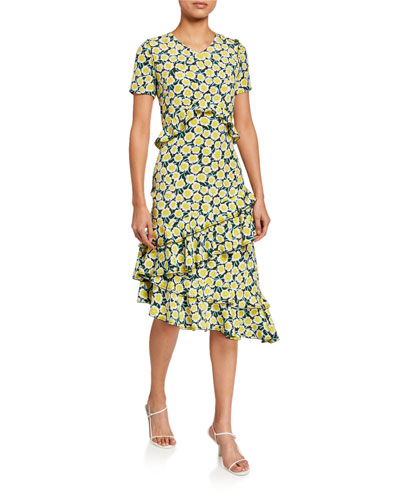 Glenys Floral-Print Tiered Ruffle Dress