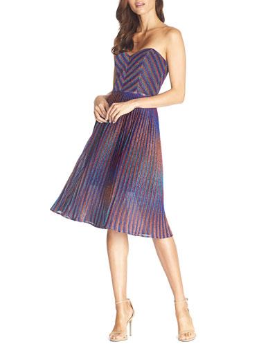 Rosalie Metallic Strapless Sweetheart Dress