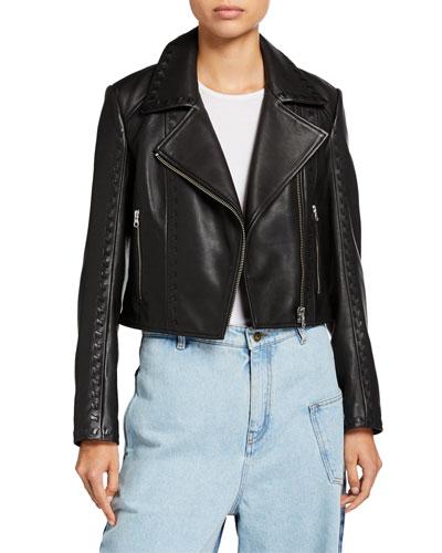 Motoya Leather Biker Jacket