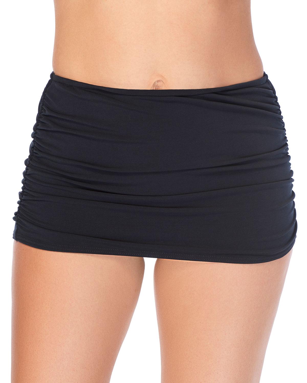Shirred Skirt Bikini Bottom