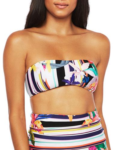 Treasure Cove Adjustable  Bandeau Bikini Top