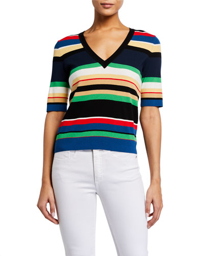 Myra Striped Pullover Sweater