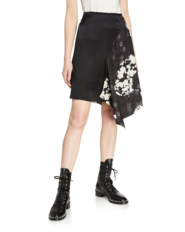 Komari Asymmetric Silk Skirt