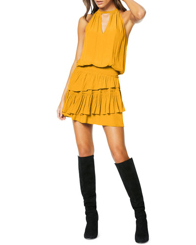Alexandra Sleeveless Ruffle Mini Dress
