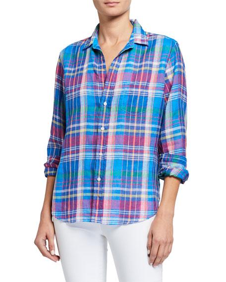 Frank & Eileen Eileen Button-Down Plaid Linen Shirt