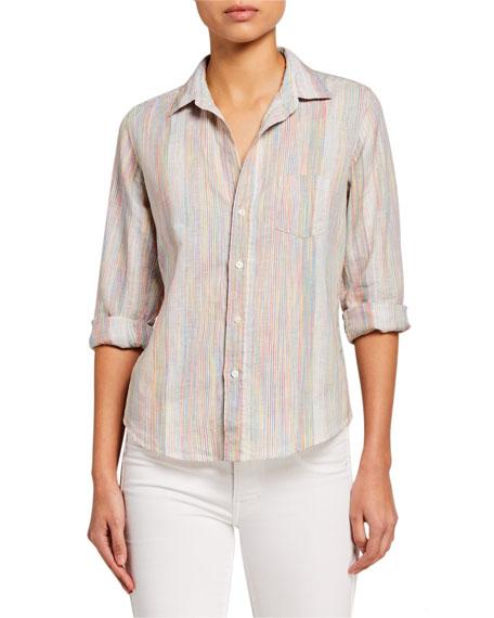 Frank & Eileen Barry Rainbow-Stripe Linen Shirt
