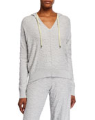 Lisa Todd Hooked Up V-Neck Hoodie w/ Tie
