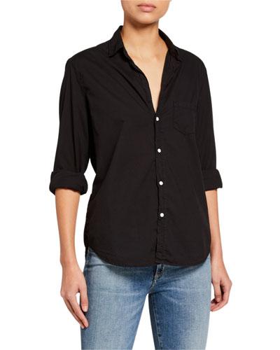 Long-Sleeve Button-Down Cotton Shirt