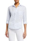 Frank & Eileen Barry Heart-Print Button-Down Shirt