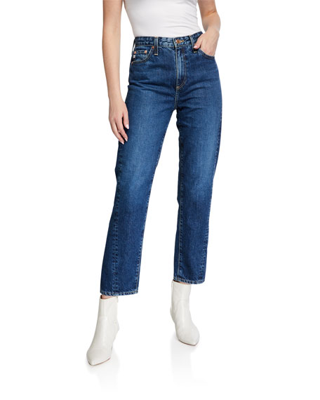 AG Adriano Goldschmied Phoebe Cropped Straight-Leg Jeans