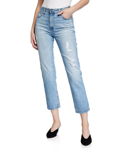 Isabelle Cropped High-Rise Jeans