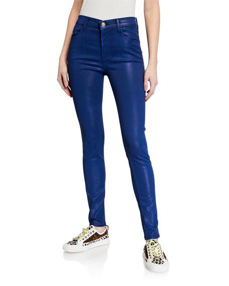 J Brand Maria High-Rise Skinny Coated Pants