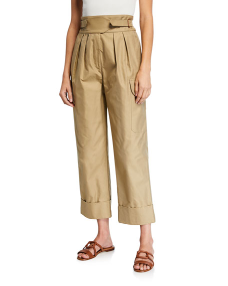 See by Chloe High-Rise Pleated Cargo Pants