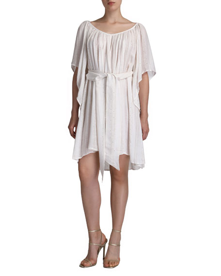 Flora Bella Odysse Beaded Tie-Front Coverup Dress
