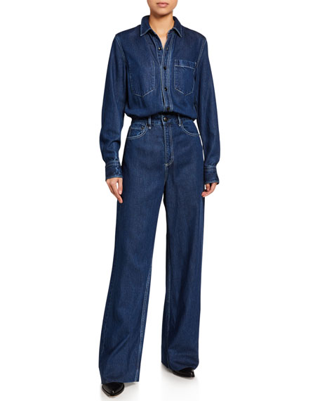 Rag & Bone All In One Denim Jumpsuit