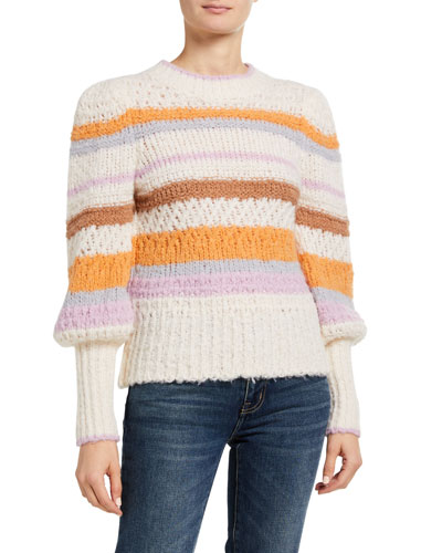 Fluffy Striped Pullover