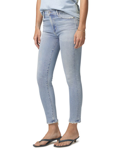 Rocket Cropped Mid-Rise Skinny Jeans